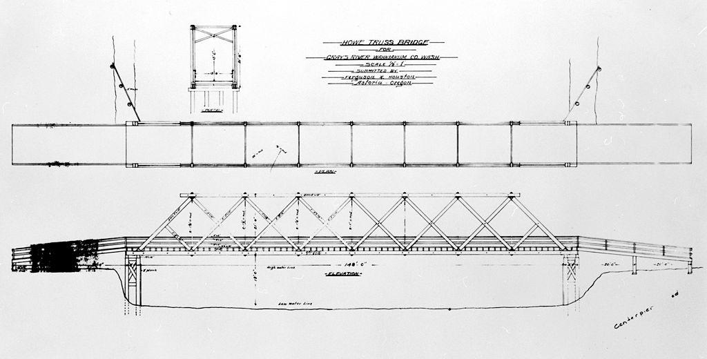 File grays river covered bridge 1905 wikimedia for Covered bridge design plans