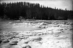 Great Fountain Geyser - Image: Great Fountain Geyser Crater 1883
