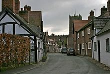 Church Street, Great Budworth, where almost all the buildings are listed