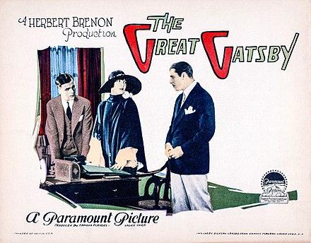 Great Gatsby lobby card., From WikimediaPhotos