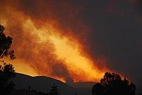 Άποψη της πυρκαγιάς στην ζάκυνθο στις