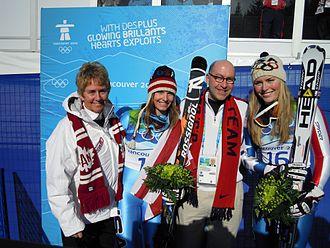 Nancy Greene Raine - Nancy Greene (left) at the 2010 Winter Olympic Games