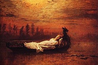 The Lady of Shalott - The Lady of Shalott by John Atkinson Grimshaw