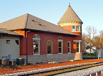 National Register of Historic Places listings in Poweshiek County, Iowa - Image: Grinnell IA Depot