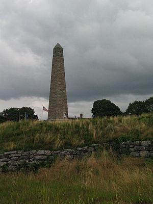 Battle of Groton Heights - The Groton Monument and national historic site is set on the place of battle