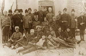 Revolutionary Insurrectionary Army of Ukraine - Black Army combat group, headed by Fedir Shchus (center)