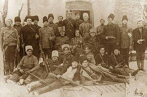 Revolutionary Insurrectionary Army of Ukraine - Black Army combat group, headed by Fedir Shchus (center)