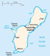 ile de guam carte Géographie de Guam — Wikipédia