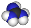 Spacefill model of guanidine