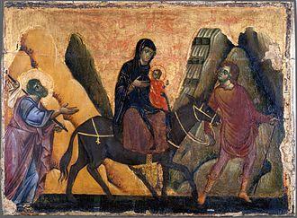 Guido of Siena - Image: Guido da Siena Fuga in Egitto