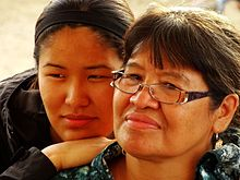 Gwich'in Mother and Daughter - Midway Lake Music Festival - Near Fort McPherson - Yukon Territory - Canada.jpg