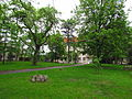 Gymnasium park in Moravské Budějovice, Třebíč District.JPG