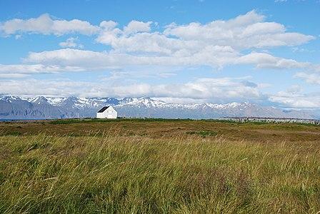 Landscape around Husavík town in summer 2009, Iceland
