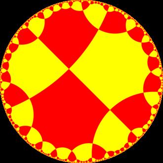 Order-4 octagonal tiling - Image: H2 tiling 288 2