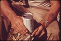 HANDS OF A LEAKEY, TEXAS, RESIDENT HOLDING A CAN OF BEER, NEAR SAN ANTONIO - NARA - 554847.tif