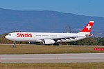 "HB-JHE Airbus A330-343 A333 c n 1084 - SWR "" Fribourg"" (44219239795).jpg"