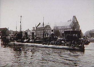 Danish Brigade in Sweden - HDMS Havkatten of the Danish Flotilla in Copenhagen, May 1945