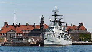 HDMS Peder Skram (F352) - HDMS Peder Skram in its current location in Copenhagen Holmen