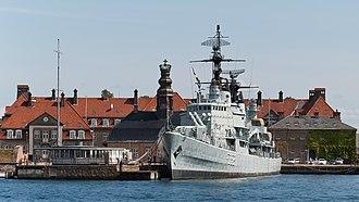 HDMS Peder Skram (F352) - HDMS Peder Skram in its current location in Copenhagen Holmen