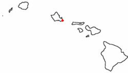 Location of Maunalua (Hawaiʻi Kai), Hawaiʻi