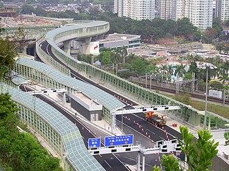 Tsing Sha Highway - Tsing Sha Highway near Tai Wai in March 2008
