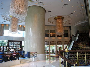 Island Shangri-La - Hotel lobby