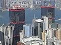 HK Mid-levels 羅便臣道 80 號 Robinson Road 1-46B view Sheung Wan 信德中心 Shun Tak Centre twins Oct-2010.JPG