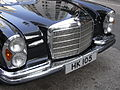 HK Sheung Wan Hollywood Road Benz in black Nov-2010 HK105 280 SE head lamps.JPG