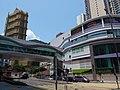 HK TKL 調景嶺 Tiu Keng Leng 彩明街 Choi Ming Street 景嶺道 King Ling Road footbridge n shopping centre carpark April 2019 SSG 03.jpg