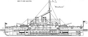 Admiral-class ironclad - Image: HMS Benbow left sectional view machinery spaces Brasseys 1888