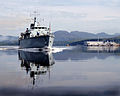 HMS Brocklesby sails from HMNB Clyde for the final time. MOD 45146491.jpg