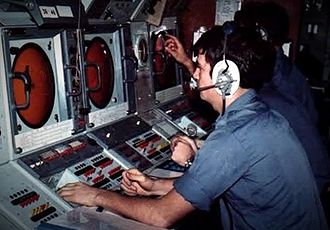 1982 British Army Gazelle friendly fire incident - Cardiff's surface plot console
