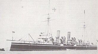 Pelorus-class cruiser - HMS Pyramus, circa 1900