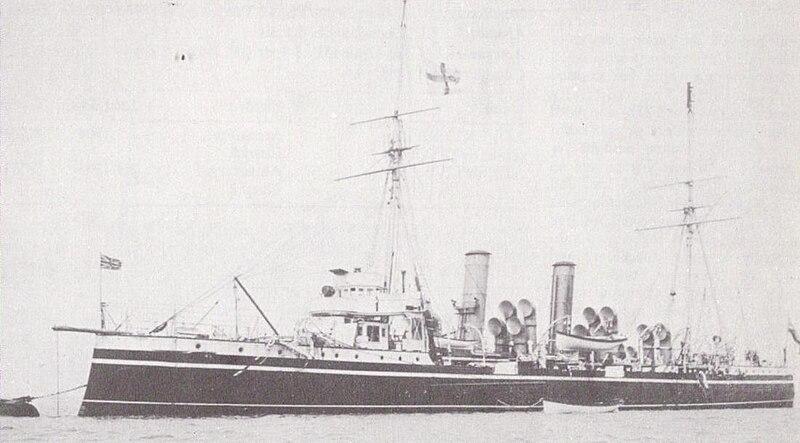 CROISEURS DE LA ROYAL NAVY ET DU COMMONWEALTH - Page 4 800px-HMS_Pyramus_%281897%29