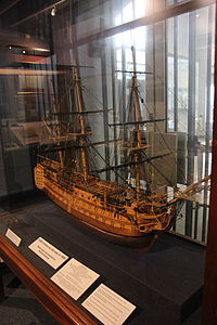 HMS Victory model at Monmouth Museum, Wales, image 2.JPG