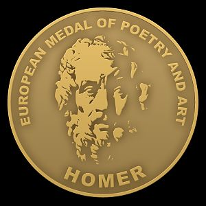 HOMER - The European Medal of Poetry and Art - Obverse of the medal.
