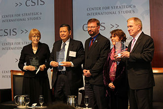 Report of the Commission of Inquiry on Human Rights in the Democratic People's Republic of Korea -  The three UN COI commissioners receive a Human Rights Award from the U.S. Committee for Human Rights in North Korea, presented by the organization's Co-Chair Roberta Cohen and Executive Director Greg Scarlatoiu