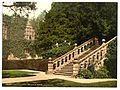 Haddon Hall, the terrace steps, Derbyshire, England-LCCN2002696686.jpg