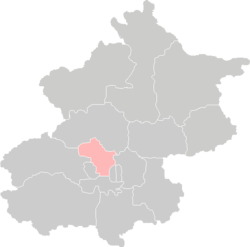 Location of Haidian District in Beijing