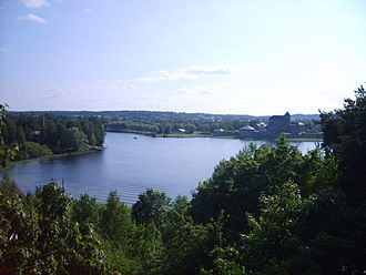 Hämeenlinna - View of Lake Vanajavesi, next to Hämeenlinna. The castle is visible to the right.