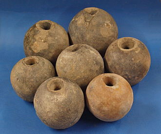 Grenade - Seven ceramic hand grenades of the 17th Century found in Ingolstadt Germany