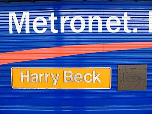 Harry Beck - Nameplate and tube diagram on GB Railfreight locomotive 66721