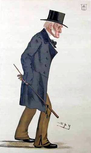 """Sir Harry Verney, 2nd Baronet - """"Bucks"""" Verney as caricatured by Spy (Leslie Ward) in Vanity Fair), July 1882"""