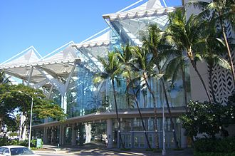 Outline of Hawaii - The Hawaii Convention Center building in Honolulu