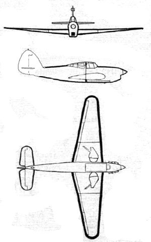 Hawker Henley - Image: Hawker Henley 3 side view