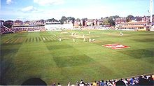 A view of a cricket ground during a Test match