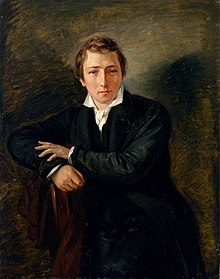A painting of Heine by Moritz Daniel Oppenheim