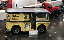 Helms delivery truck circa 1950 located at the LeMay Car museum in Tacoma, WA