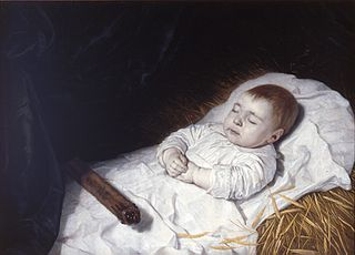 A child's deathbed portrait