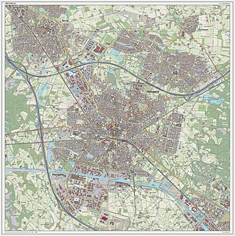 Hengelo - Dutch Topographic map of Hengelo (city), June 2014